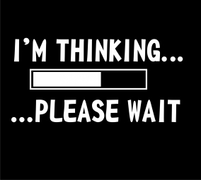 I'm thinking please wait