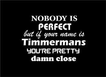 nobody is perfect, name