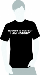 nobody is perfect, I am nobody