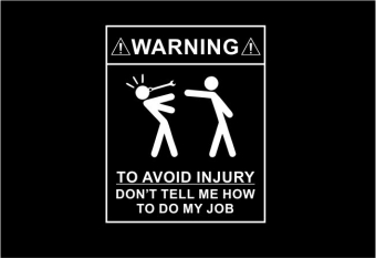 Warning! to avoid injury